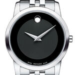 Movado Museum Black Dial Watch, 28mm