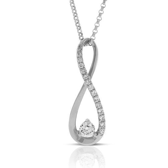 Ikuma Canadian Diamond Infinity Pendant 14K