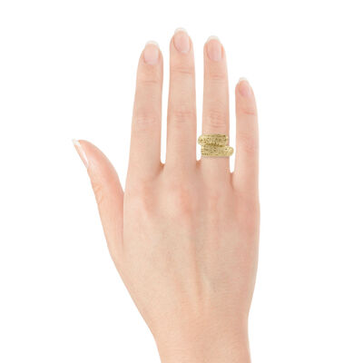 Toscano Bypass Ring 14K - Size 7
