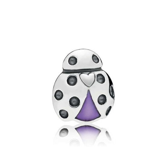 PANDORA Enamel Ladybug Petite Locket Charm