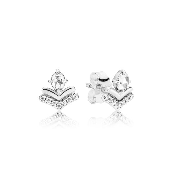 PANDORA Classic Wishes CZ Earrings