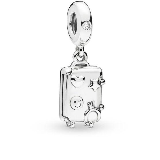 Pandora Suitcase Enamel & CZ Dangle Charm