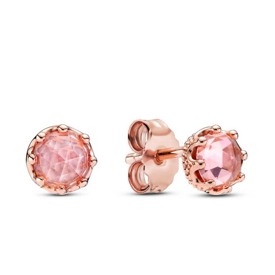 Pandora Rose™ Pink Sparkling Crown Crystal Stud Earrings