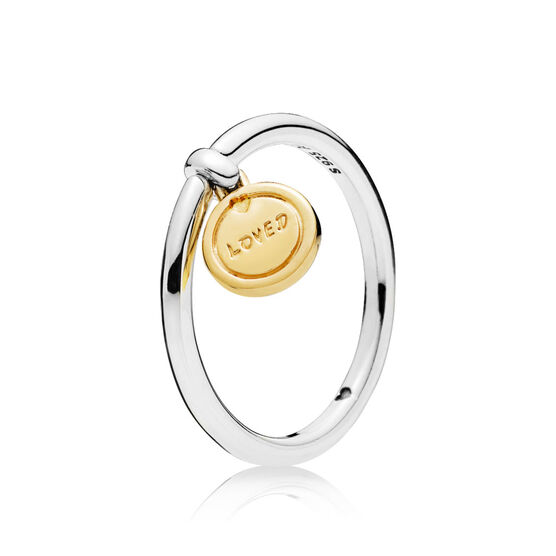 Medallion of Love Ring, PANDORA Shine™  & Silver