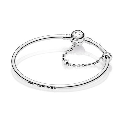 PANDORA Limited Edition True Uniqueness CZ Bangle Bracelet