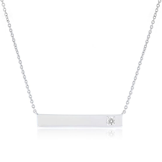 Ikuma Canadian Diamond Bar Necklace in Sterling Silver