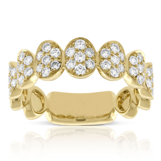 Oval Cluster Diamond Ring 14K