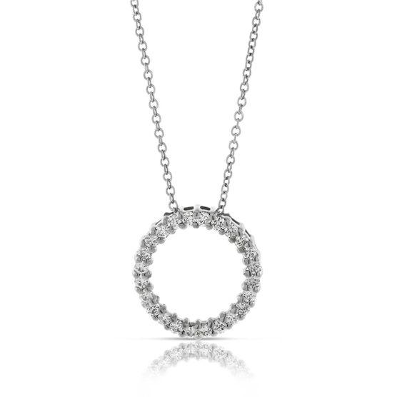 Diamond Circle Pendant 14K, 1/4 ctw.