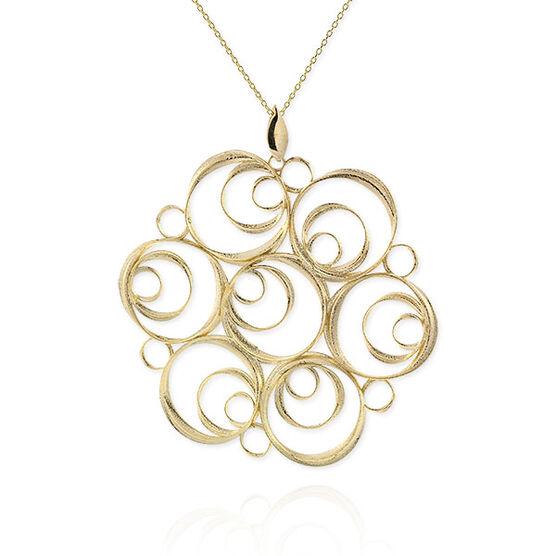 Toscano Spiral Medallion 14K