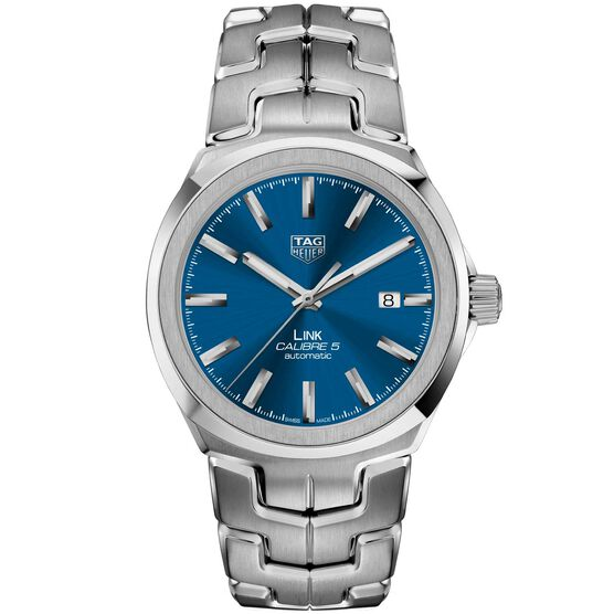 TAG Heuer Link Calibre 5 Automatic Mens Blue Steel Watch