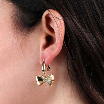 Toscano Bow Dangle Earrings 14K
