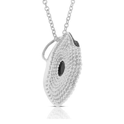 Lisa Bridge Black Spinel Lily Pad Necklace