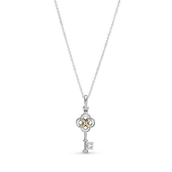 Pandora Two-tone Key & Flower Necklace