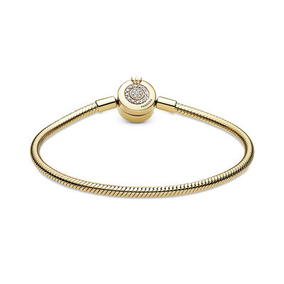Pandora Shine™ Moments Sparkling CZ Crown O Snake Chain Bracelet