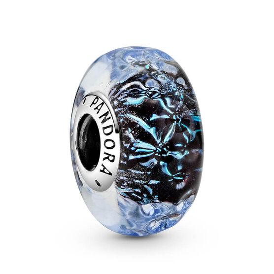Pandora Wavy Dark Blue Murano Glass Ocean Charm