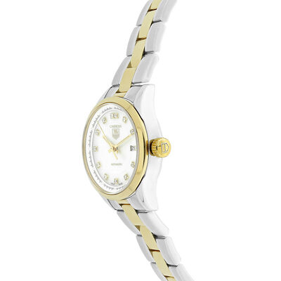 Pre-Owned TAG Heuer Carrera Mother of Pearl Dial Watch, 27mm, 18K & Steel