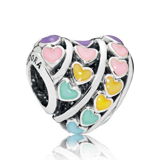 Pandora Enamel Hearts Charm