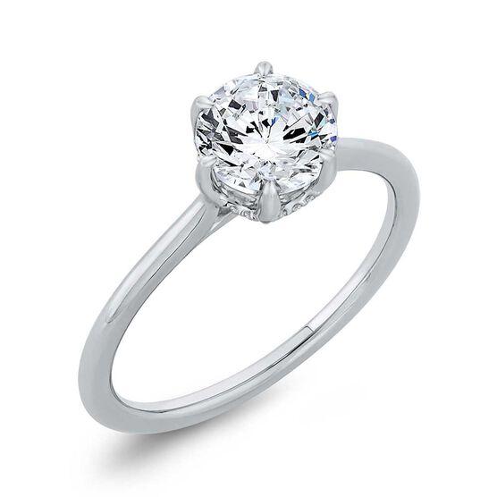"Bella Ponte ""The Whisper Crown"" Diamond Engagement Ring Setting 14K"