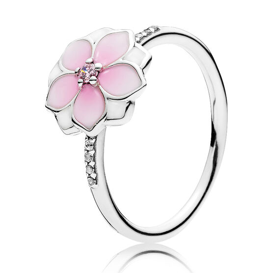 PANDORA Magnolia Bloom, Enamel & CZ Ring