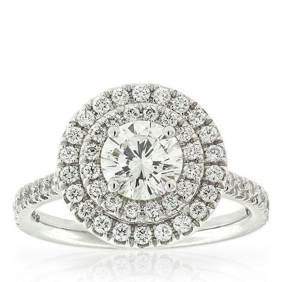 Signature Forevermark Diamond Double Halo Ring 18K