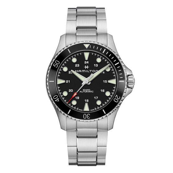 Hamilton Khaki Navy Scuba Black Steel Automatic Watch, 43mm
