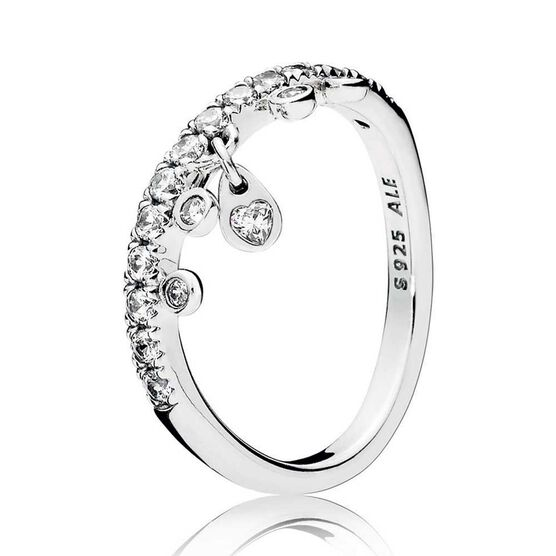 Pandora Chandelier Droplets CZ Ring