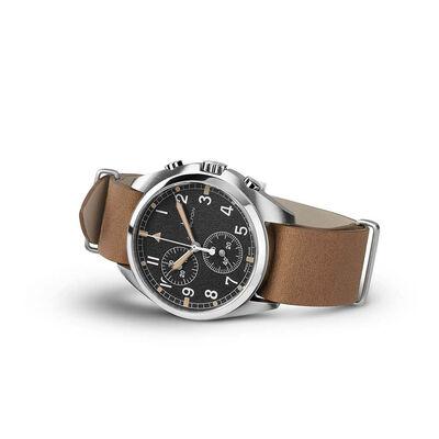 Hamilton Khaki Pilot Pioneer Chrono Quartz Watch, 41mm