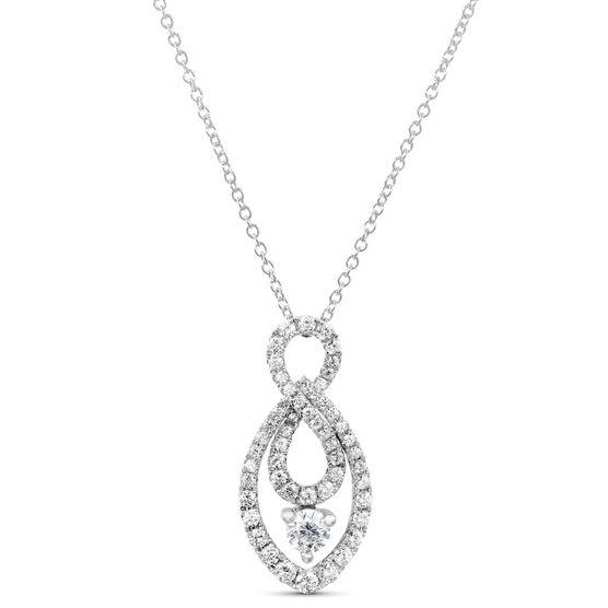 Signature Forevermark Infinity Diamond Pendant 18K