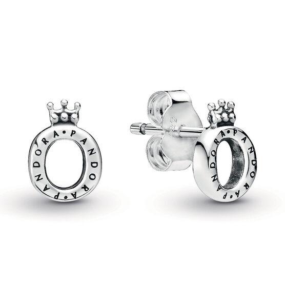 Pandora Crown O Polished Stud Earrings