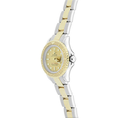 Pre-Owned Rolex Oyster Perpetual Lady Yachtmaster Watch, 29mm, 18K & Steel