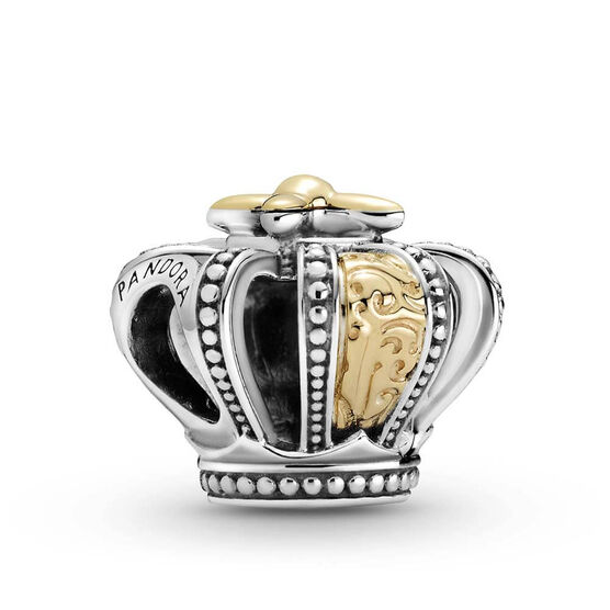 Pandora Two-tone Regal Crown Charm, 14K & Silver
