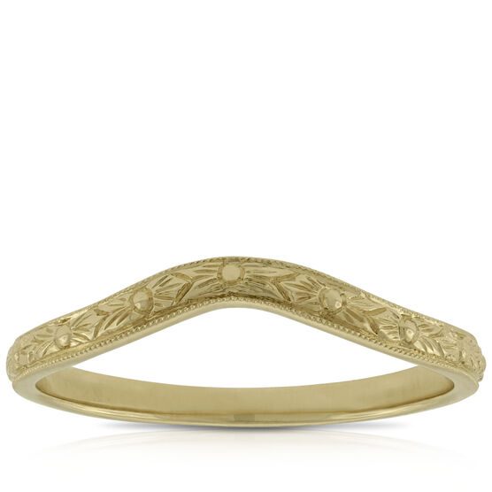 Hand Etched Band 14K