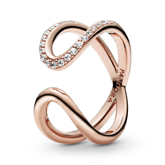Pandora Rose™ Wrapped Open Infinity CZ Ring