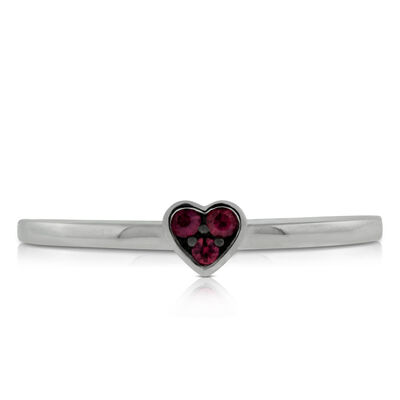 Heart Ruby Ring 14K