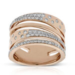 Rose Gold Criss Crossing Constellation Ring 14K