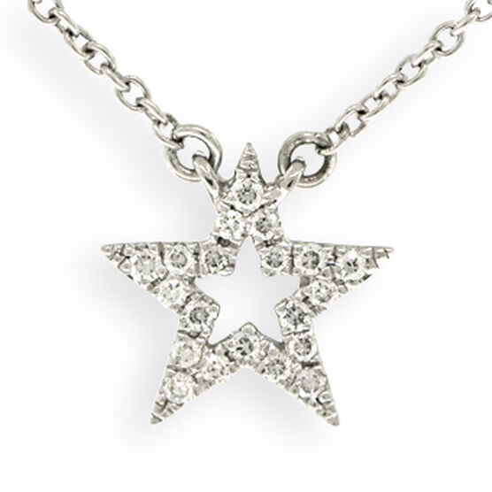 Tiny Star Diamond Necklace 14K