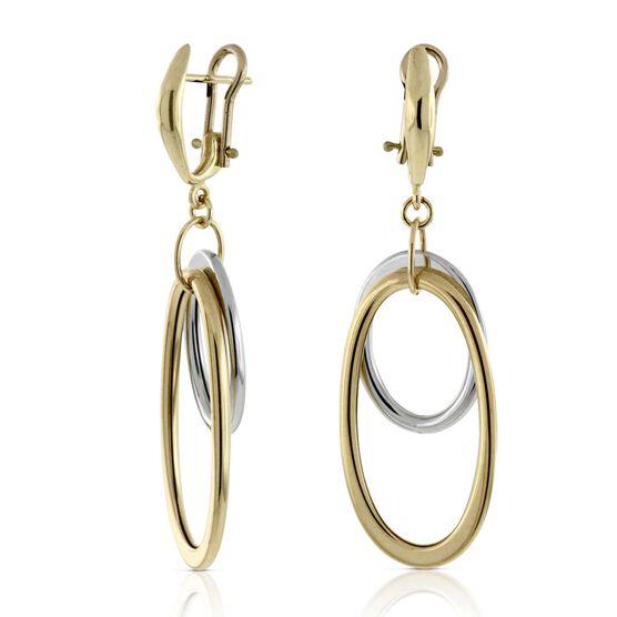 Toscano Oval Drop Earrings 14K