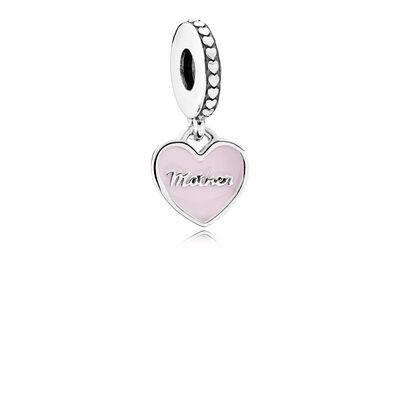 PANDORA Mother & Daughter Hearts, Enamel & CZ Dangle Charm
