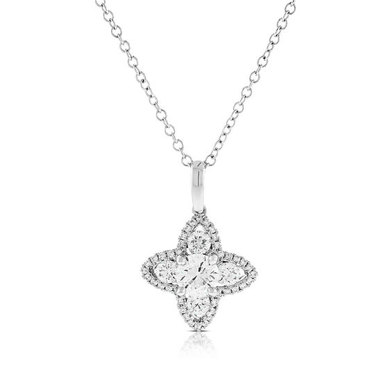 Signature Forevermark Diamond Flower Necklace 18K