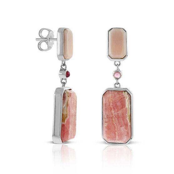 Lisa Bridge Rhodochrosite, Opal & Tourmaline Earrings