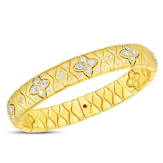 Roberto Coin Royal Princess Flower Diamond Bangle 18K
