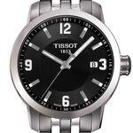 Tissot PRC 200 Black Dial Steel Quartz Watch, 39mm