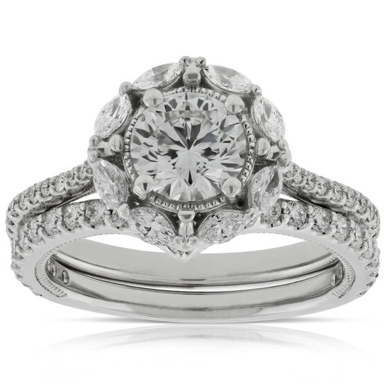 Signature Forevermark Diamond Bridal Set 18K