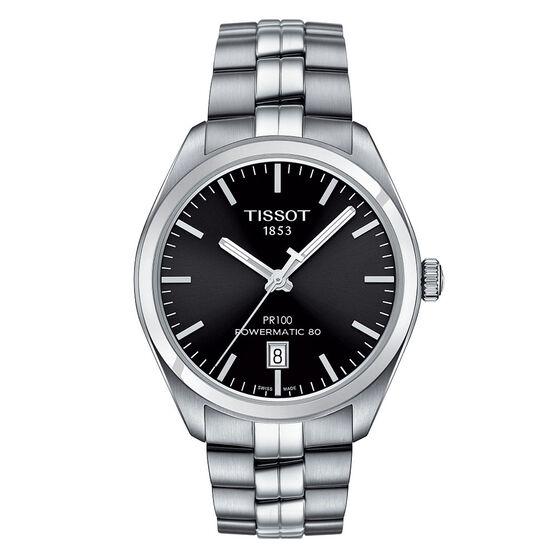 Tissot PR 100 Powermatic 80 Black Dial Steel Watch, 39mm