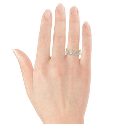 Diamond Crown Ring 14K