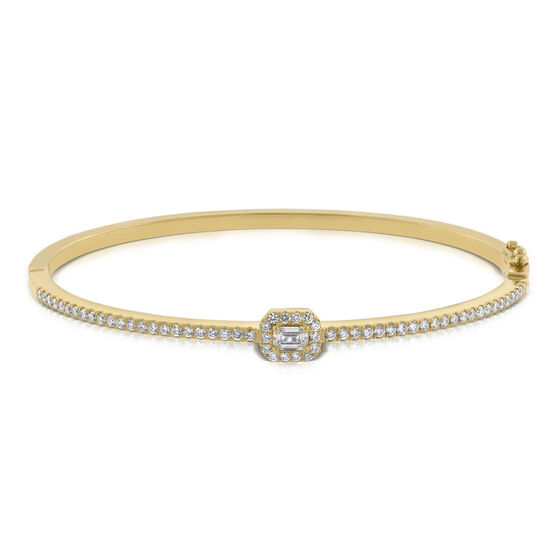 Forevermark Emerald Cut Diamond Bangle 18K