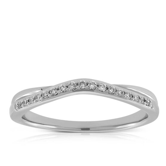 Diamond Contour Band 14K