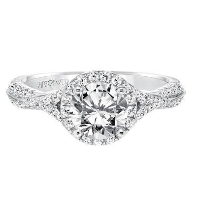 ArtCarved Liana Diamond Semi-Mount Ring