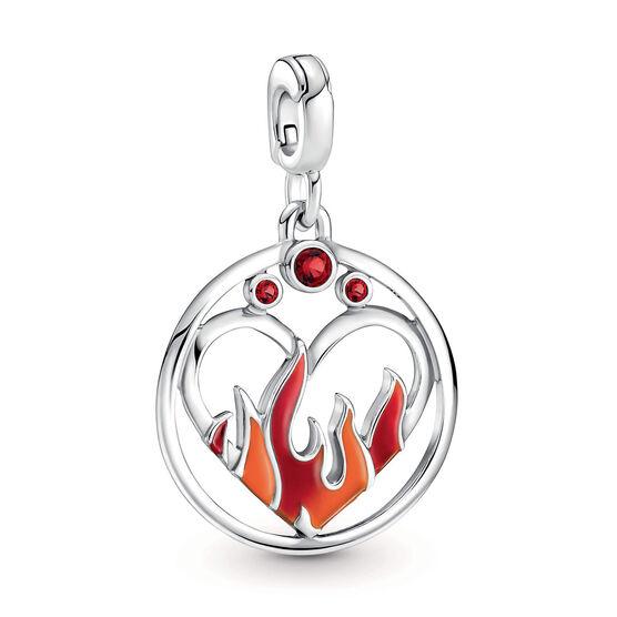 Pandora ME Fire Inside Crystal & Enamel Medallion Charm