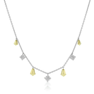 Jade Trau for Signature Forevermark Diamond Station Necklace 18K